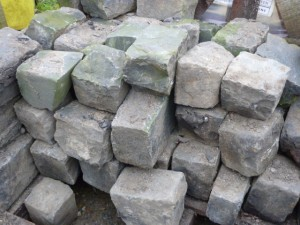 Reclaimed granite setts,