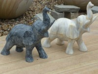 Hand carved marble small elephant