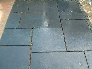 Carbon (kota black) limestone Paving