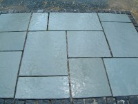 Aqua Blue limestone paving