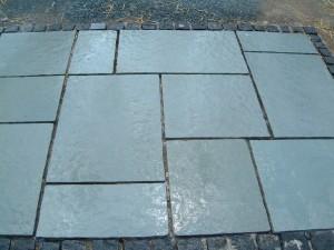 Aqua (Kota Blue) Limestone, 4 sizes, 600 wide, calibrated to 22mm thick